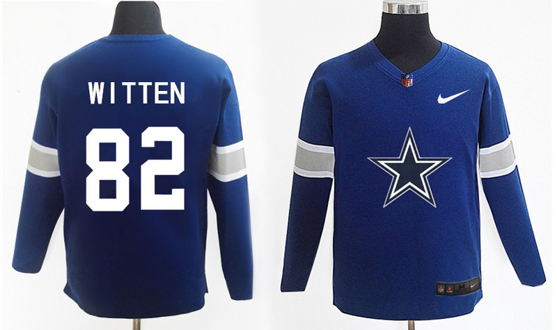 Nike Cowboys 82 Jason Witten Navy Knit Sweater