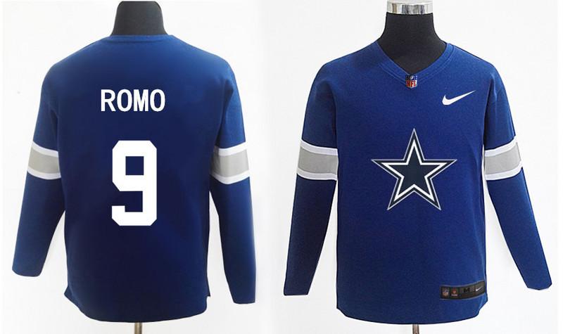 Nike Cowboys 9 Tony Romo Navy Knit Sweater