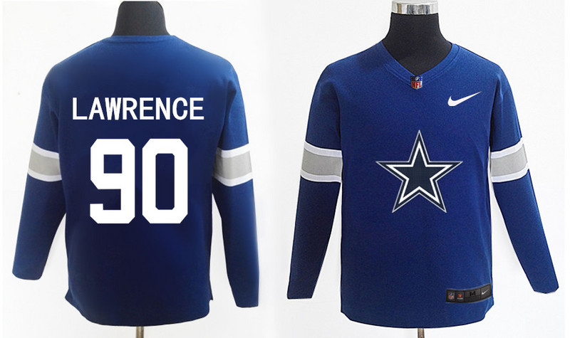 Nike Cowboys 95 Demarcus Lawrence Navy Knit Sweater