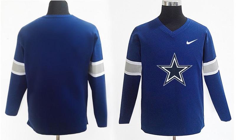 Nike Cowboys Team Logo Navy Knit Sweater