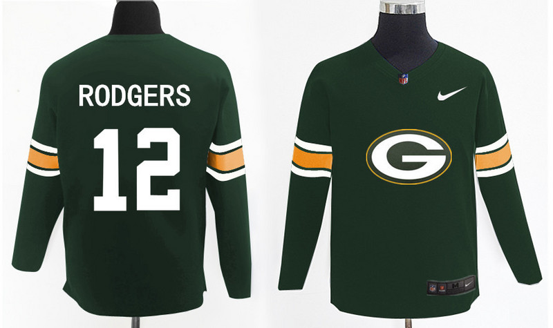 Nike Packers 12 Aaron Rodgers Green Knit Sweater
