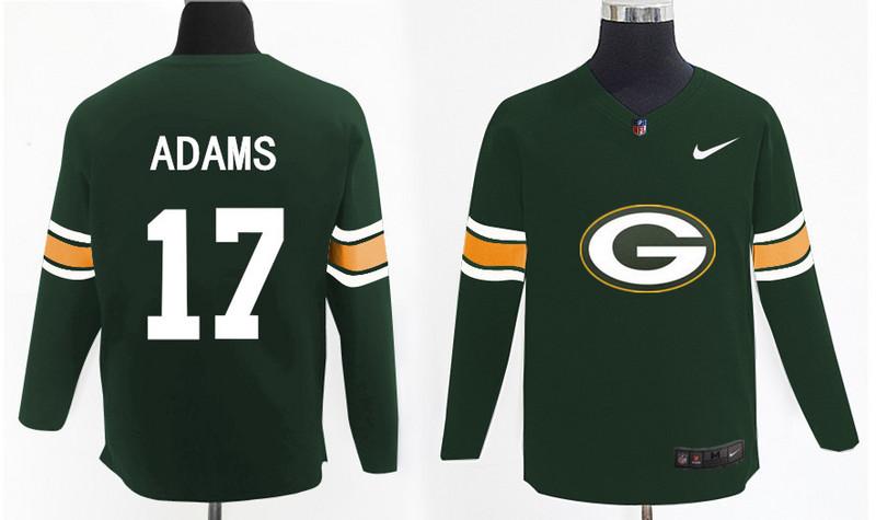 Nike Packers 17 Davante Adams Green Knit Sweater