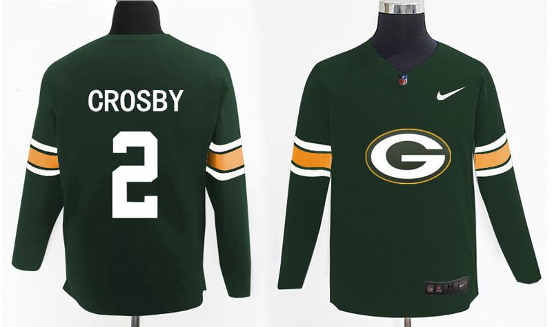 Nike Packers 2 Mason Crosby Green Knit Sweater