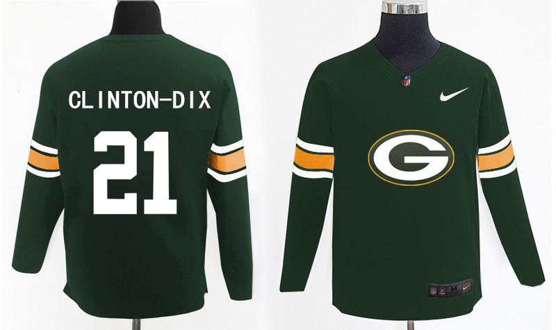 Nike Packers 21 Ha Ha Clinton Dix Green Knit Sweater