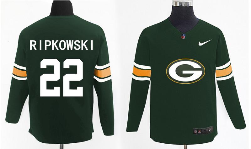 Nike Packers 22 Aaron Ripkowski Green Knit Sweater