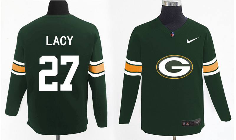 Nike Packers 27 Eddie Lacy Green Knit Sweater