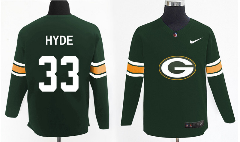 Nike Packers 33 Micah Hyde Green Knit Sweater