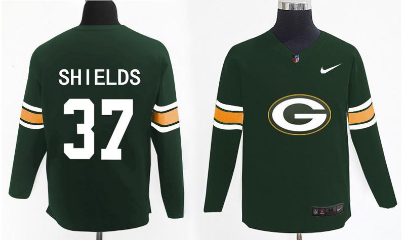 Nike Packers 37 Sam Shields Green Knit Sweater