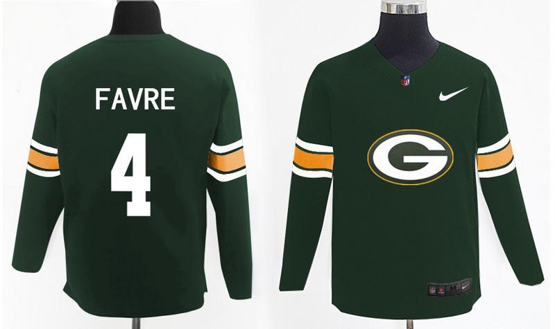 Nike Packers 4 Brett Favre Green Knit Sweater