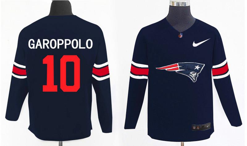 Nike Patriots 10 Jimmy Garoppolo Navy Knit Sweater