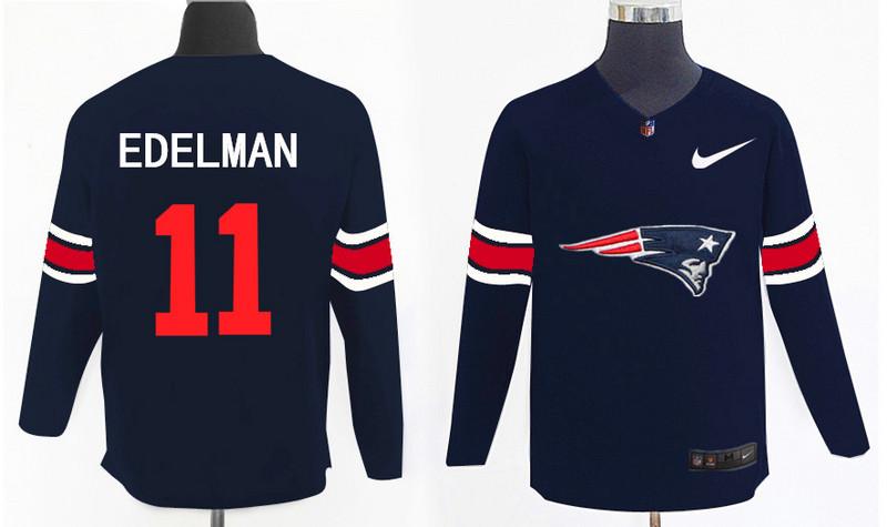 Nike Patriots 11 Julian Edelman Navy Knit Sweater