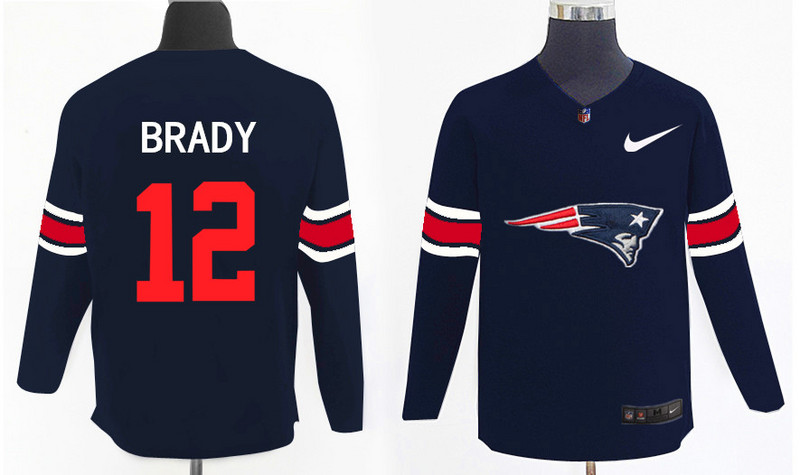 Nike Patriots 12 Tom Brady Navy Knit Sweater