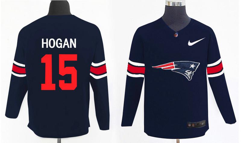 Nike Patriots 15 Chris Hogan Navy Knit Sweater
