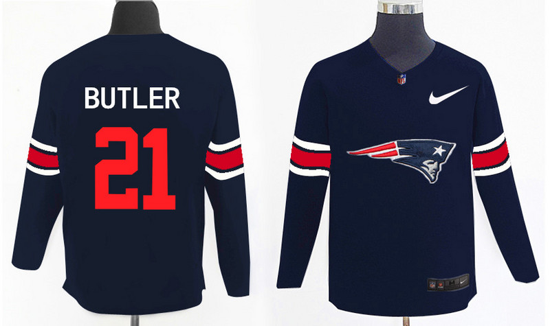 Nike Patriots 21 Malcolm Butler Navy Knit Sweater