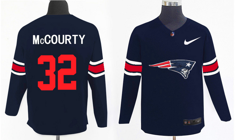 Nike Patriots 32 Devin McCourty Navy Knit Sweater