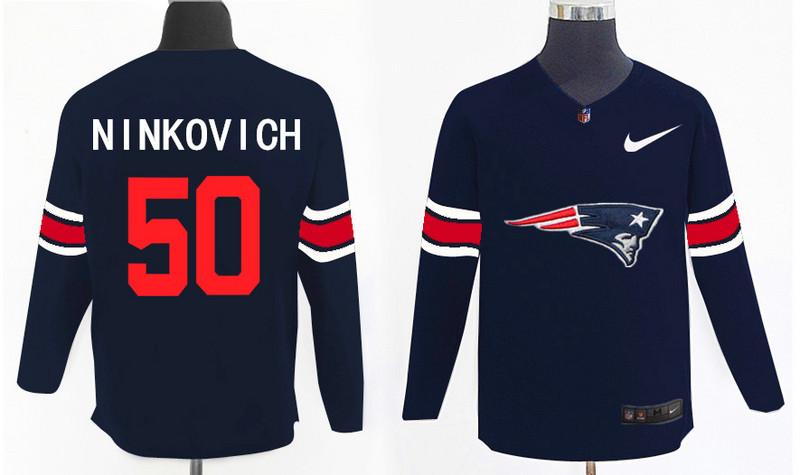Nike Patriots 50 Rob Ninkovich Navy Knit Sweater