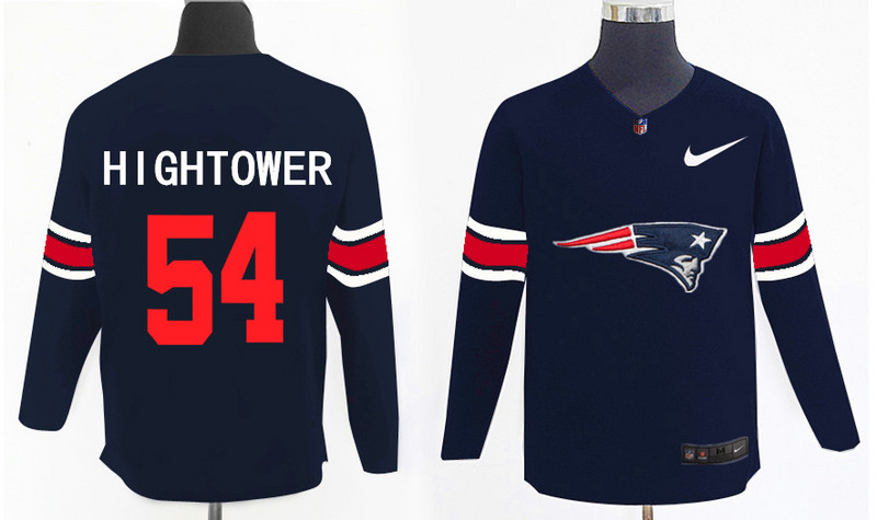 Nike Patriots 54 Dont'a Hightower Navy Knit Sweater