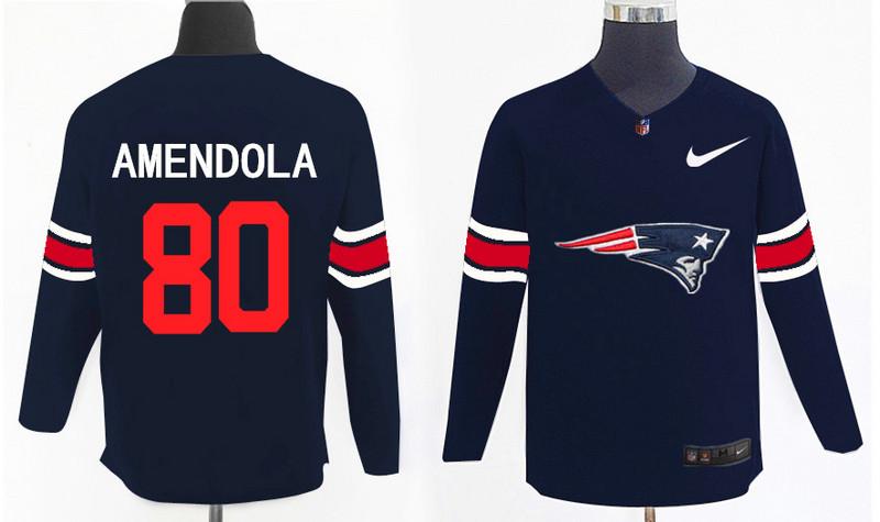 Nike Patriots 80 Danny Amendola Navy Knit Sweater