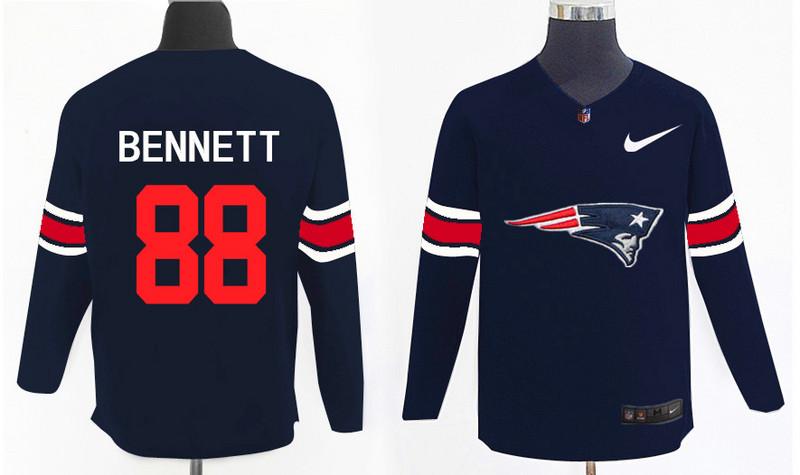 Nike Patriots 88 Martellus Bennett Navy Knit Sweater