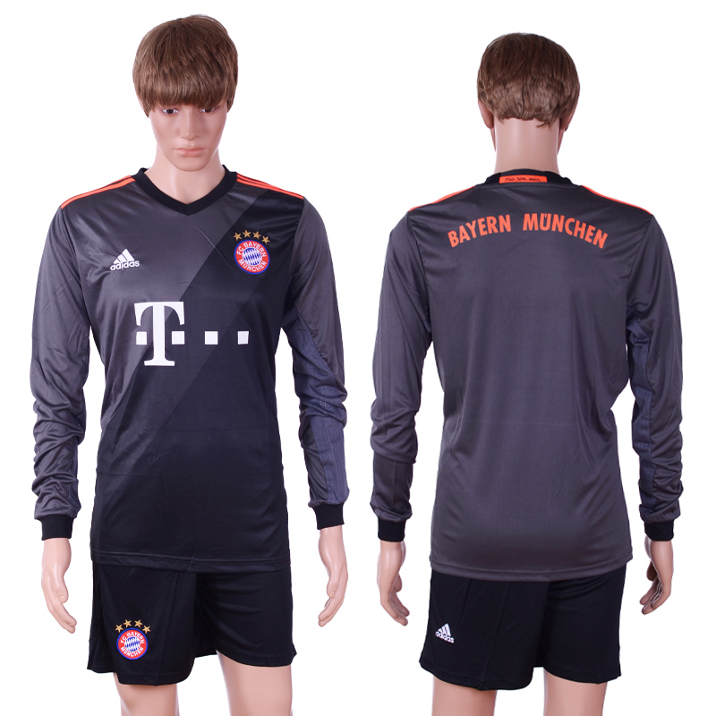 2016-17 Bayern Munich Away Long Sleeve Soccer Jersey