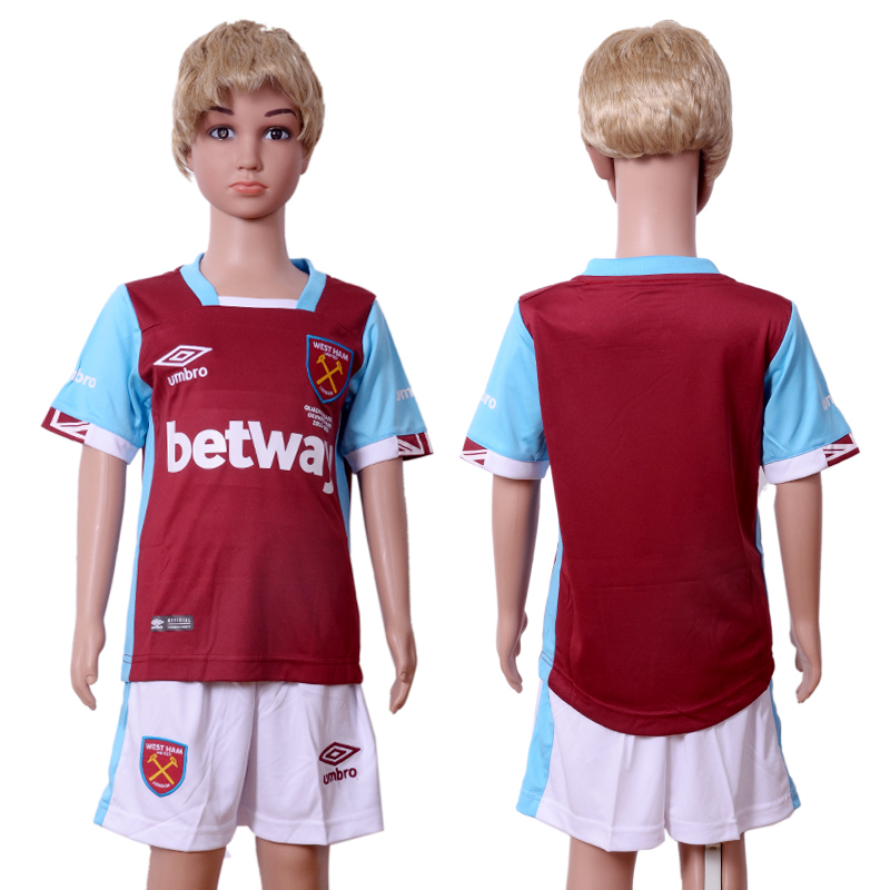 2016-17 West Ham United Home Youth Soccer Jersey