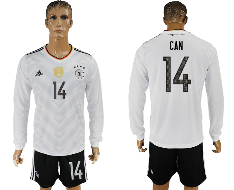 Germany 14 CAN Home 2017 FIFA Confederations Cup Long Sleeve Soccer Jersey