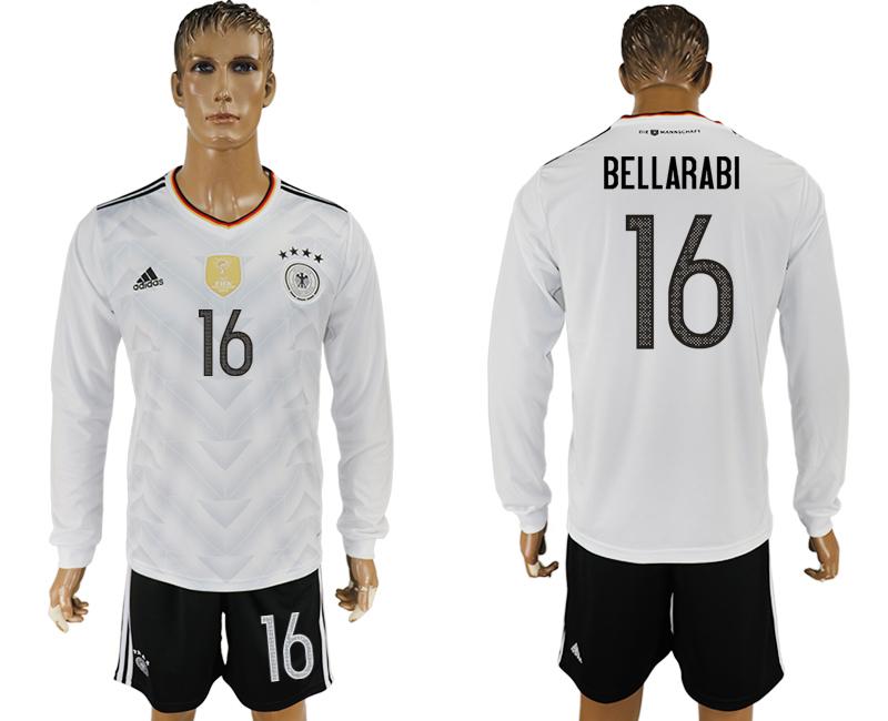 Germany 16 BELLARABI Home 2017 FIFA Confederations Cup Long Sleeve Soccer Jersey