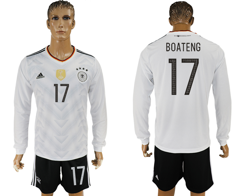 Germany 17 BOATENG Home 2017 FIFA Confederations Cup Long Sleeve Soccer Jersey
