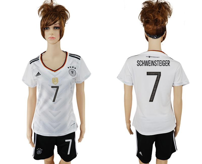 Germany 7 SCHWEINSTEIGER Home 2017 FIFA Confederations Cup Women Soccer Jersey