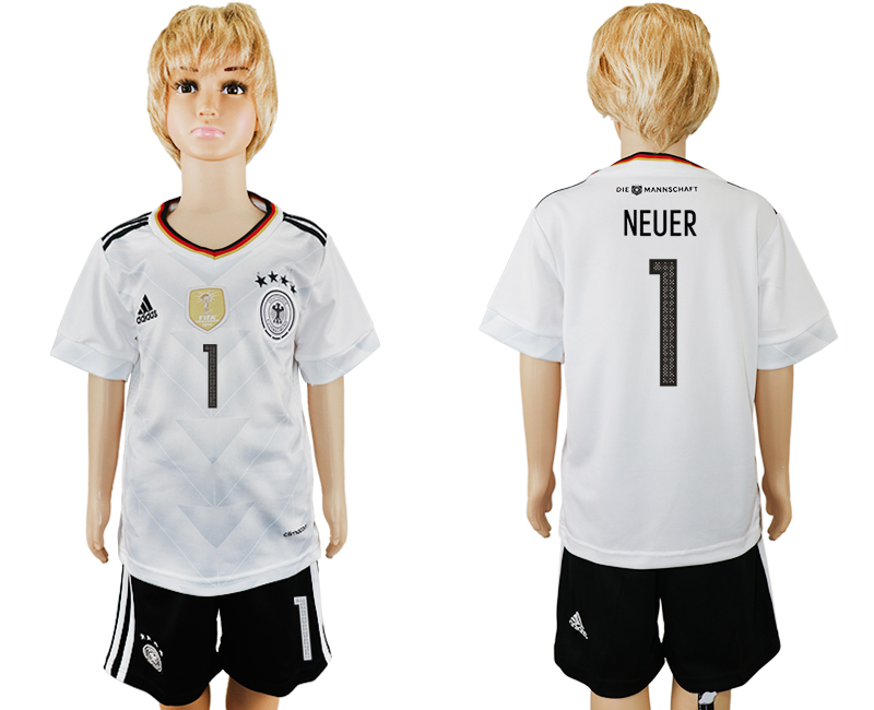 Germany 1 NEUER Home 2017 FIFA Confederations Cup Youth Soccer Jersey