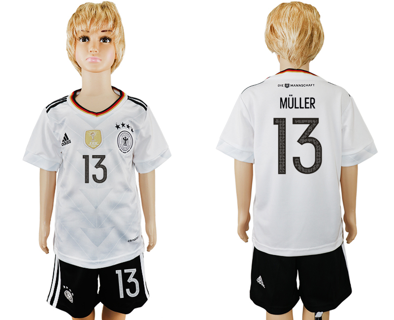 Germany 13 MULLER Home 2017 FIFA Confederations Cup Youth Soccer Jersey