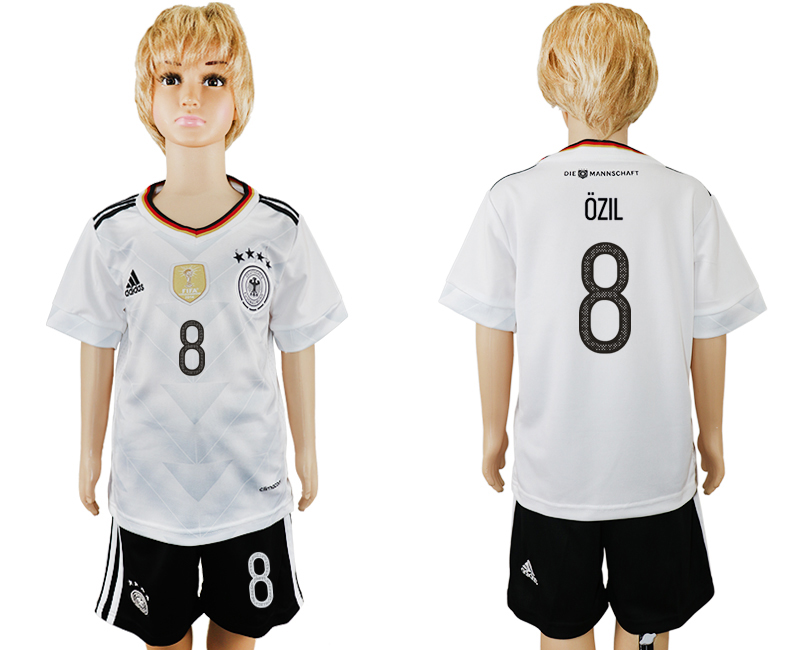 Germany 8 OZIL Home 2017 FIFA Confederations Cup Youth Soccer Jersey