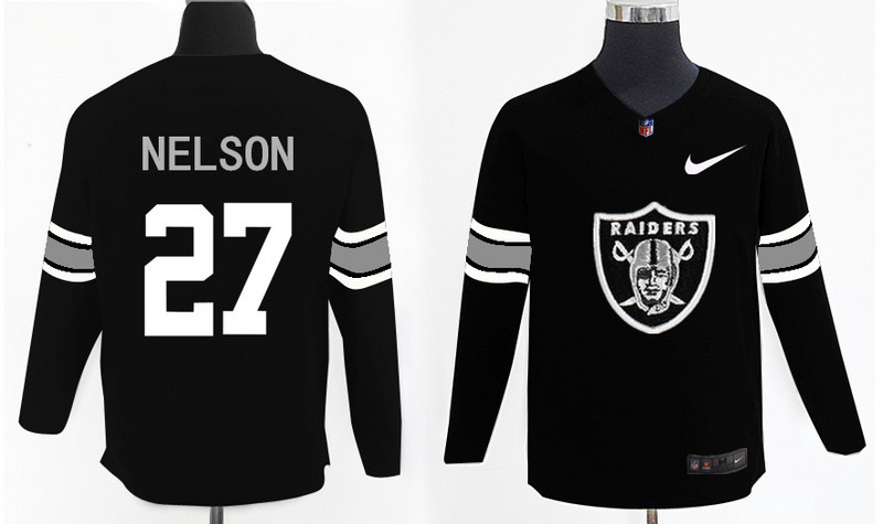 Nike Raiders 27 Reggie Nelson Knit Sweater