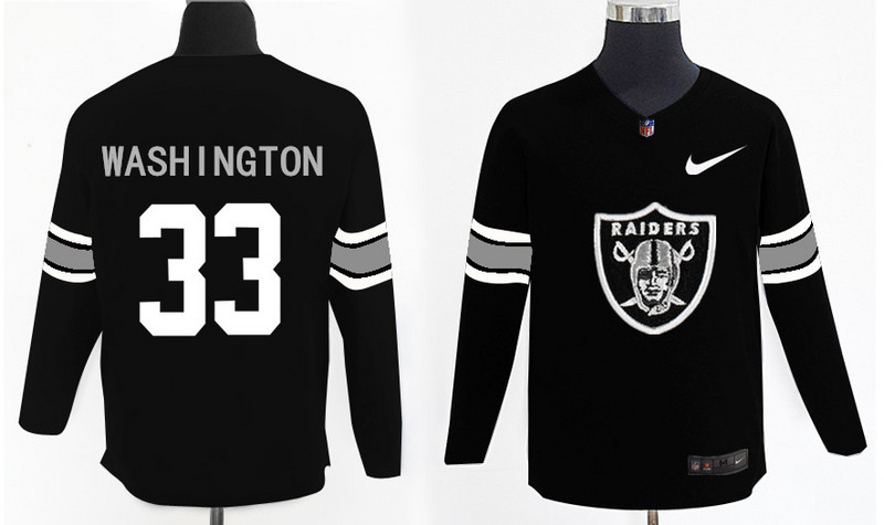 Nike Raiders 33 DeAndre Washington Knit Sweater