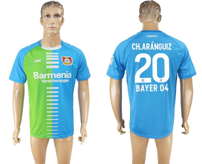 2016-17 Bayer 04 Leverkusen 20 CH.ARANGUIZ Third Away Thailand Soccer Jersey