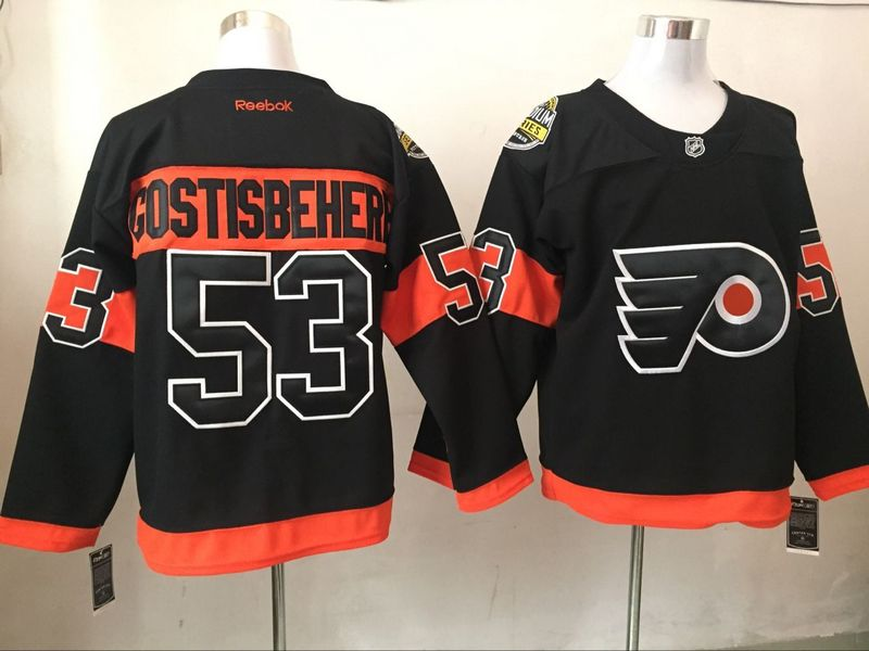 Flyers 53 Shayne Gostisbehere Black Reebok Jersey