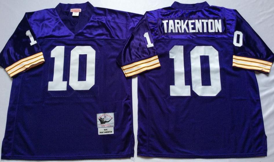 Vikings 10 Fran Tarkenton Purple Throwback Jersey