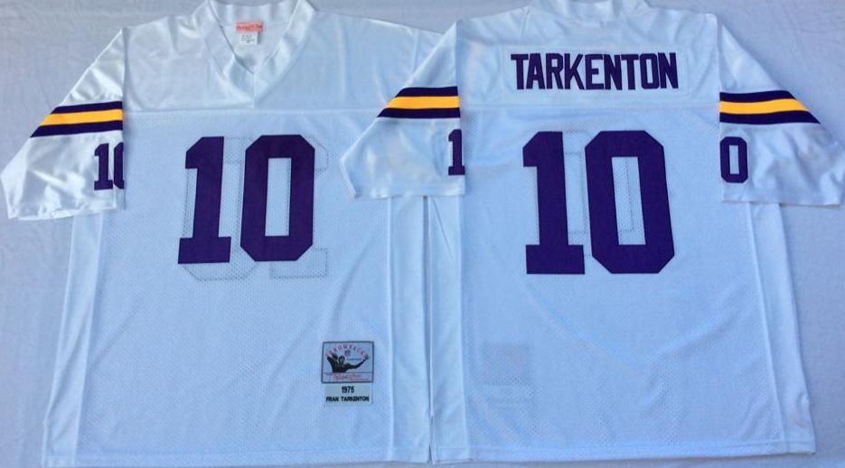 Vikings 10 Fran Tarkenton White Throwback Jersey