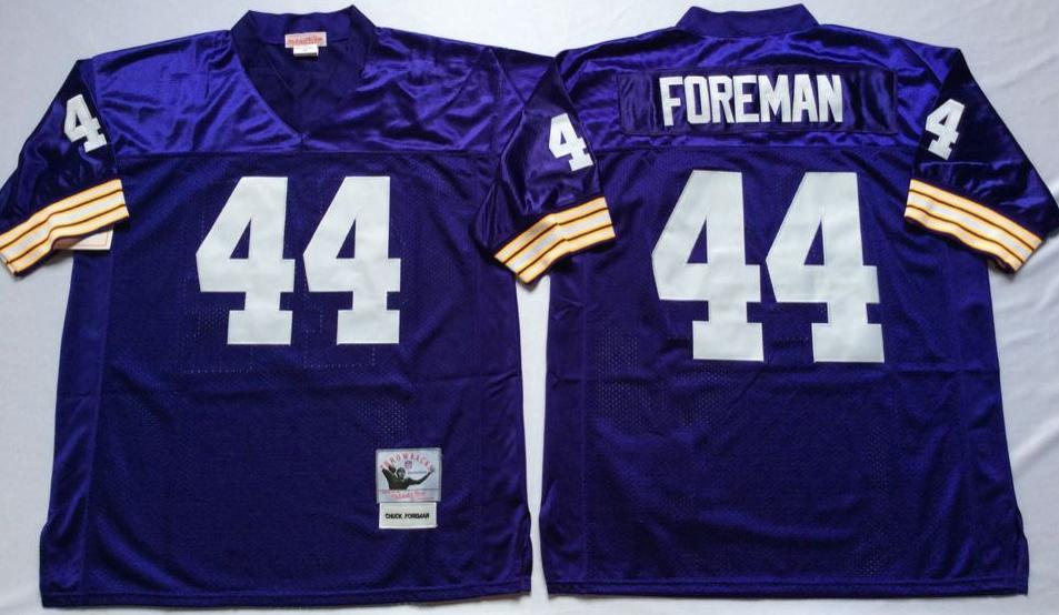 Vikings 44 Chuck Foreman Purple Throwback Jersey