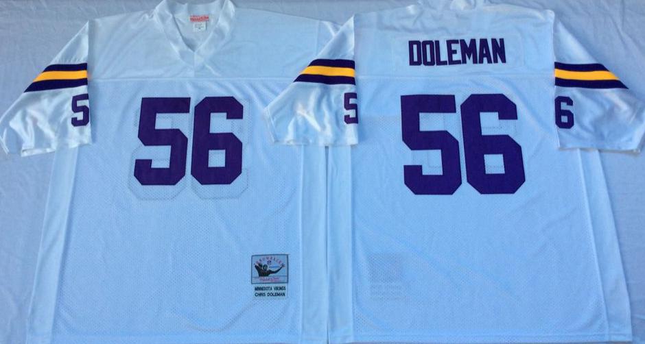 Vikings 56 Chris Doleman White Throwback Jersey