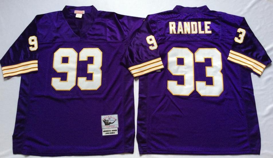 Vikings 93 John Randle Purple Throwback Jersey