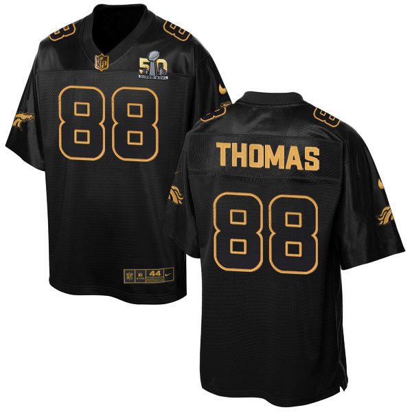 Nike Broncos 88 Demaryius Thomas Black Super Bowl 50 Gold Collection Elite Jersey