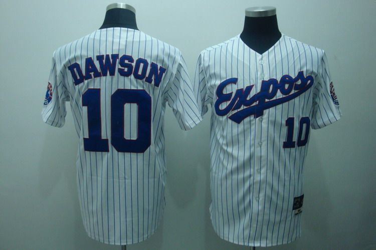 Expos 10 Andre Dawson White Throwback Jersey