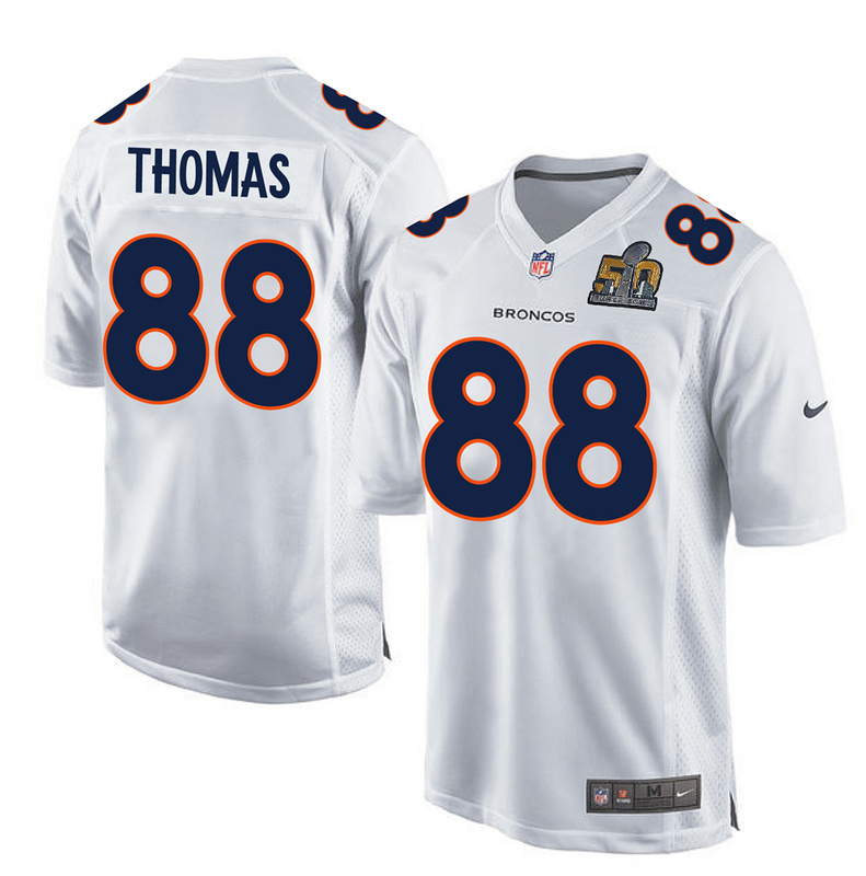 Nike Broncos 88 Demaryius Thomas White Youth Super Bowl 50 Bound Game Event Jersey