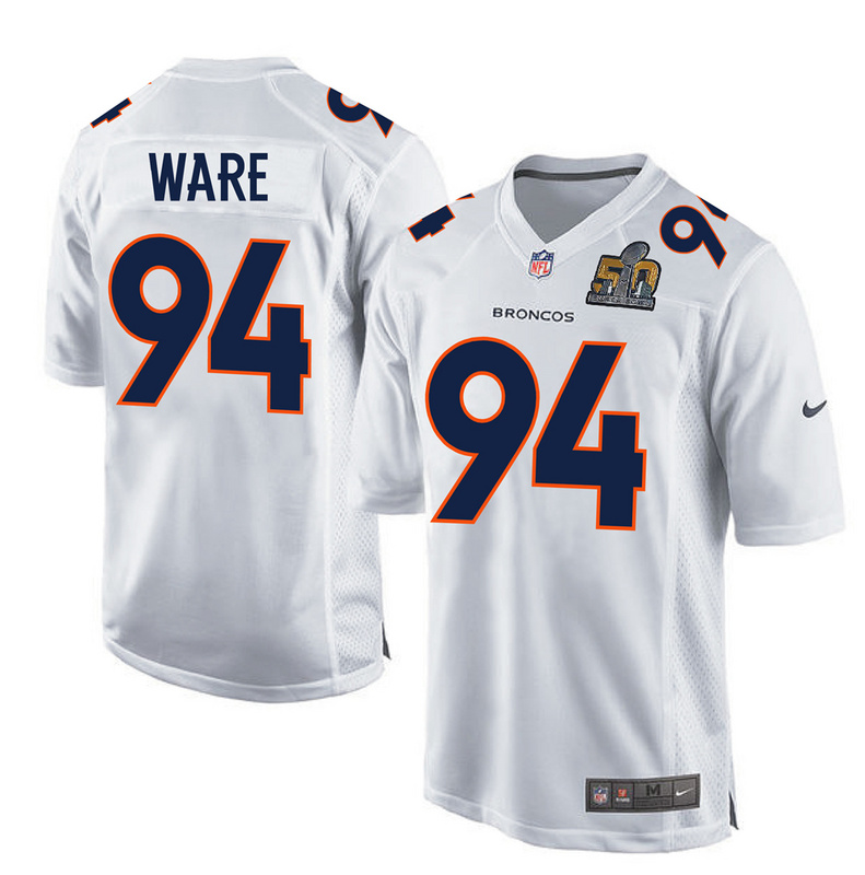 Nike Broncos 94 DeMarcus Ware White Youth Super Bowl 50 Bound Game Event Jersey