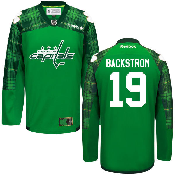 Capitals 19 Nicklas Backstrom Green St. Patrick's Day Reebok Jersey