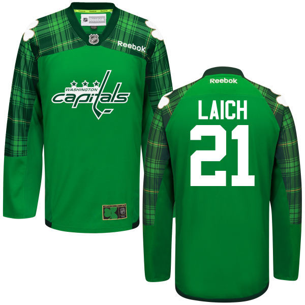 Capitals 21 Brooks Laich Green St. Patrick's Day Reebok Jersey