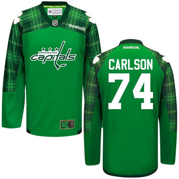 Capitals 74 John Carlson Green St. Patrick's Day Reebok Jersey