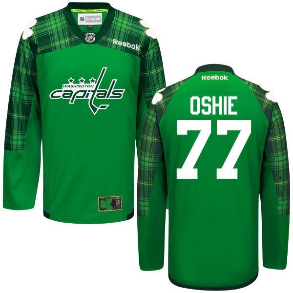 Capitals 77 T.J. Oshie Green St. Patrick's Day Reebok Jersey