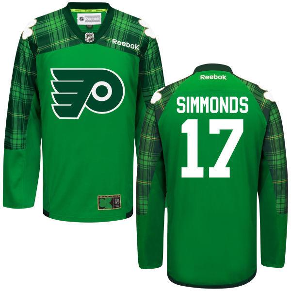 Flyers 17 Wayne Simmonds Green St. Patrick's Day Reebok Jersey